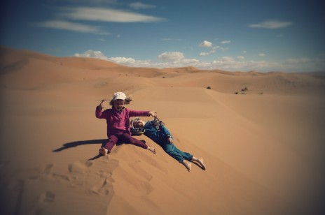 Célébrer l'ami-temps au Sahara